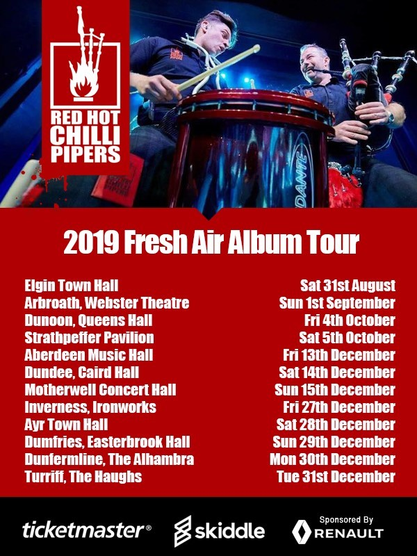 Red Hot Chilli Pipers - Fresh Air Album Tour
